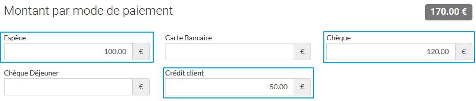 Remboursement des crédits clients