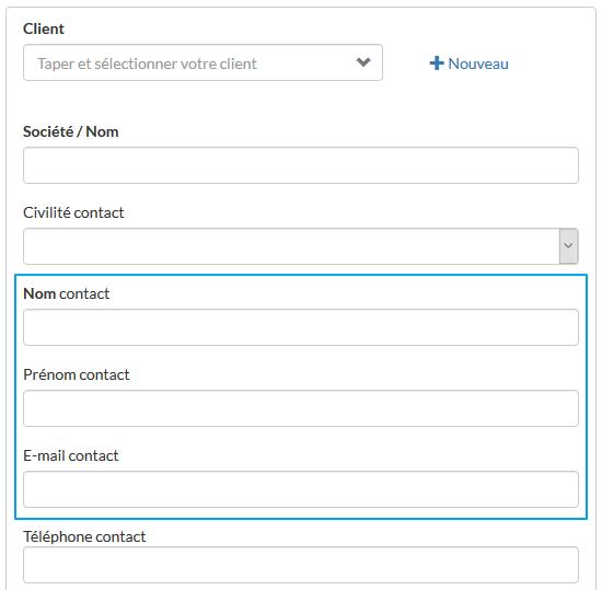 Nouveau Contact Client Logiciel Evoliz Comment Creer Une Fiche Contact Client