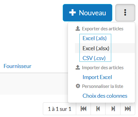 Export articles